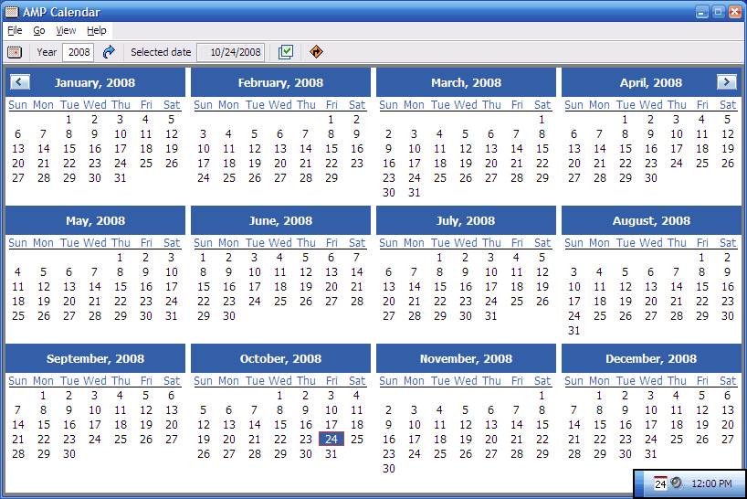 Portable AMP Calendar 2.42 full