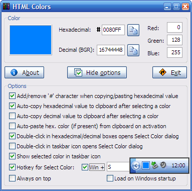 HTMLColors screenshot