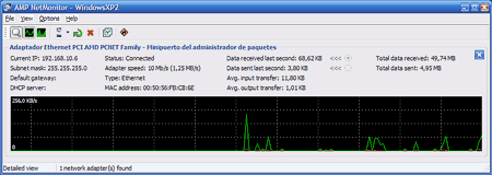 AMP NetMonitor screenshot